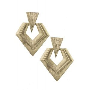 Jewelry - Geo Doorknocker Earrings